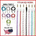 Braided Woven Fabric 3.5mm AUX Auxiliary Cable-Home Car Ster