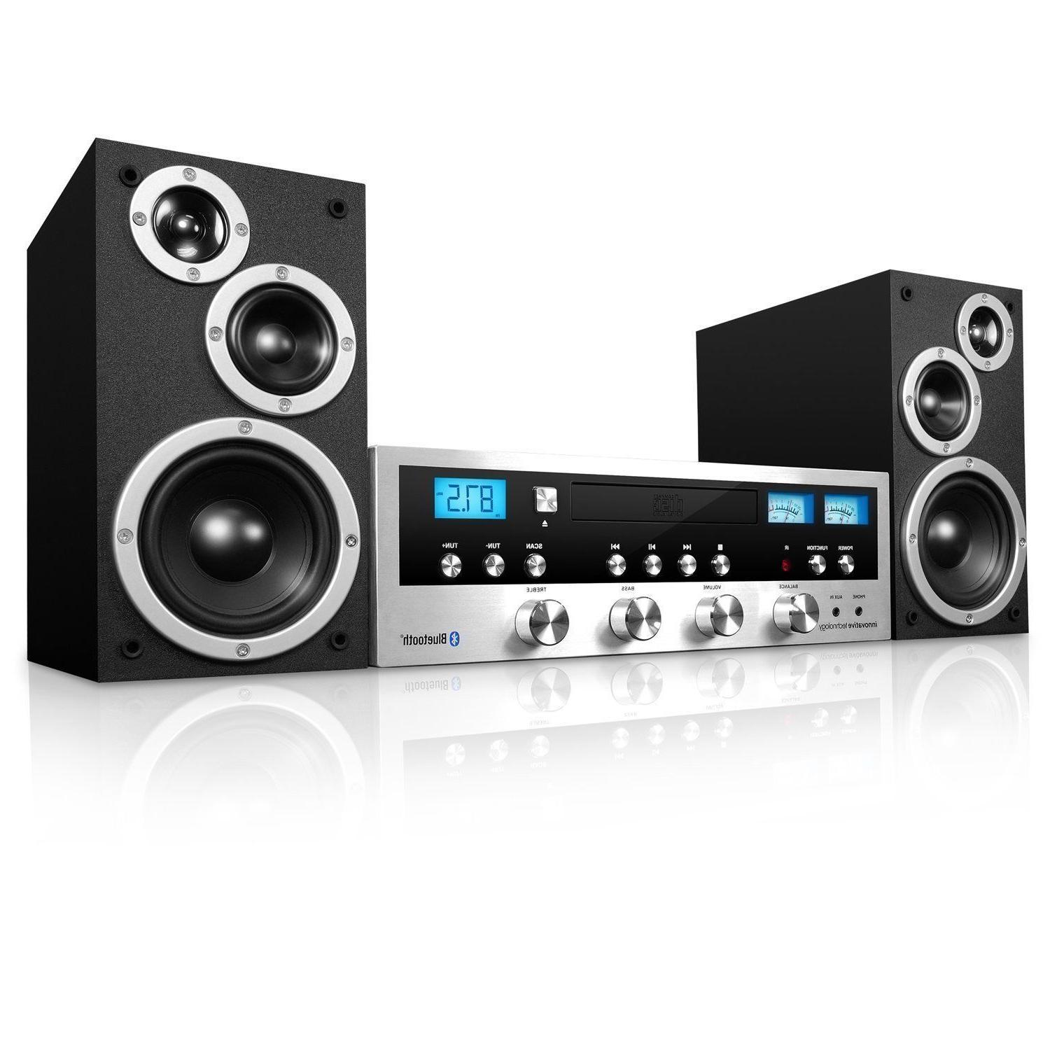 CD Home Speaker Player FM Jack Aux-In