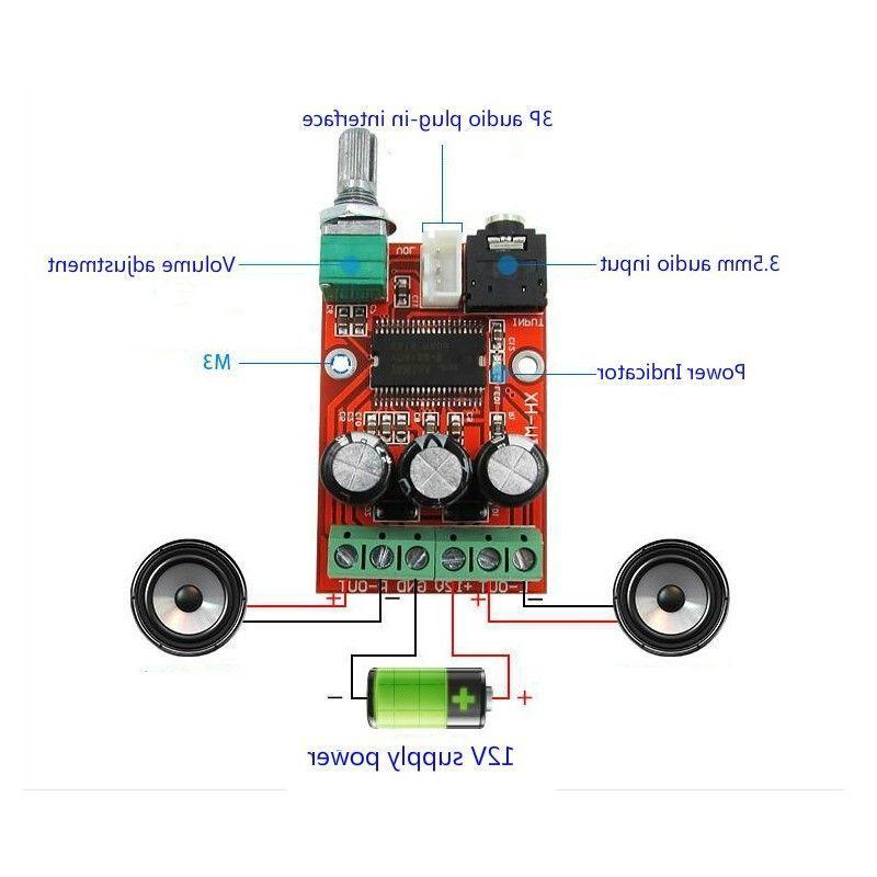Class D amplifier <font><b>Yamaha</b></font> 2x 12W with jack input