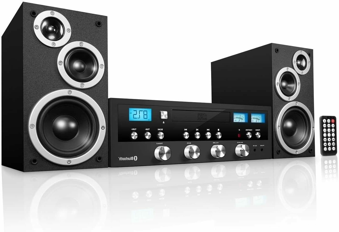 cd bluetooth stereo system home classic speaker