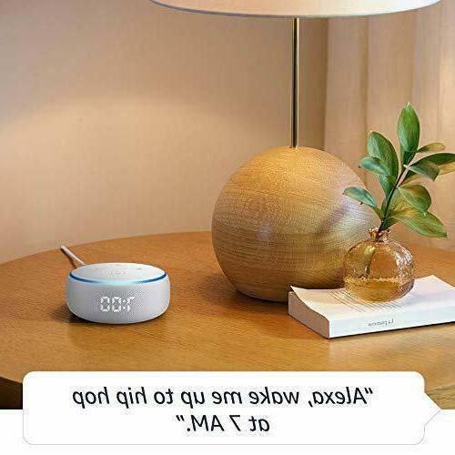 Amazon Echo Dot Generation Smart Speaker with Clock and Alexa - Sandstone