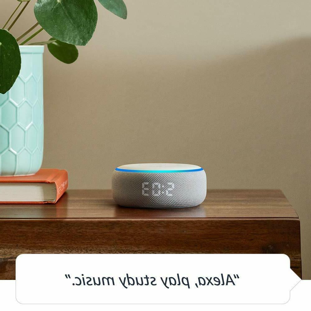 Amazon Echo Dot Generation Smart with Clock -