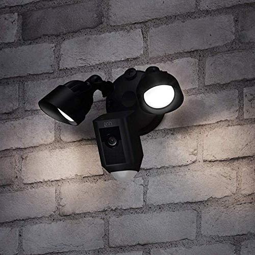 Ring Floodlight Camera HD Cam Two-Way Talk Black, Works Alexa Charcoal