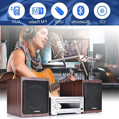 neon Hi-Fi with Wooden USB FM Radio with Control, Home System, MCB1533
