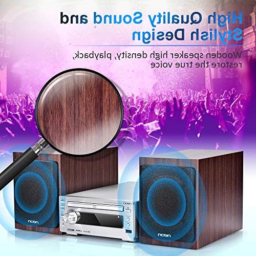 neon with Speakers, CD Stereo with USB with Remote Control, Home System, MCB1533