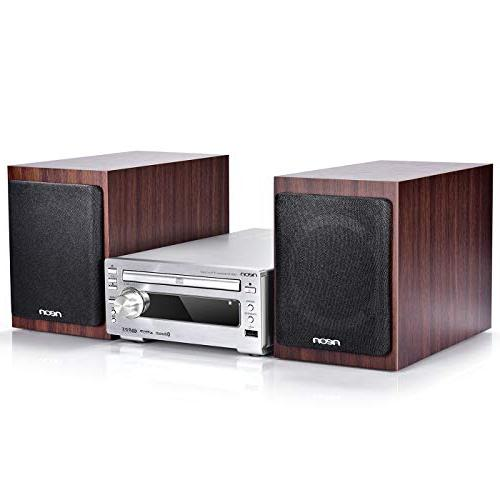 hi fi stereo systems with wooden speakers