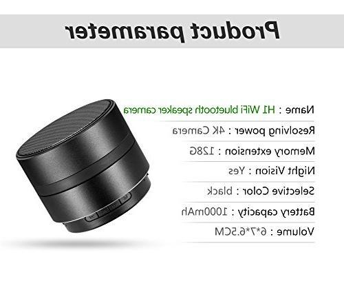 Hidden Camera Speaker Camera Bluetooth Music WiFi 4KMini Stereo Speaker Cameras Rotate and Alarm Home