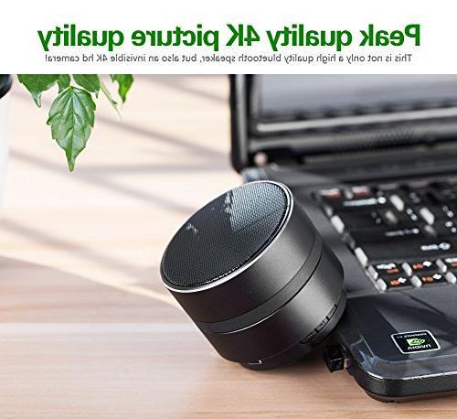 Hidden Camera Bluetooth Music WiFi 4KMini Stereo Speaker Rotate and Home Security