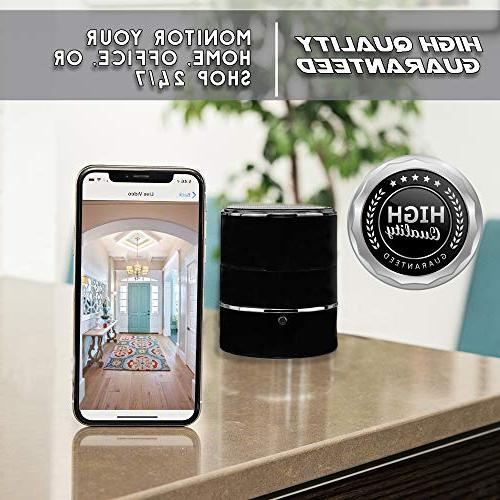 SPYCOON Hidden Spy Camera Speaker, with Mini Wireless Bluetooth Video, 180 Panoramic Motion Detection for Office, or
