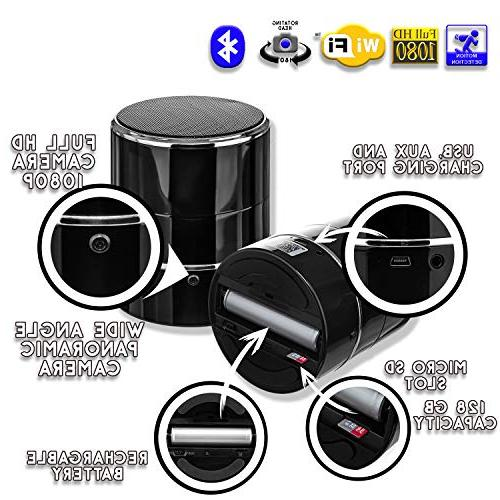 SPYCOON Hidden Spy Speaker, with Mini Wireless Bluetooth Video, 180 Motion Detection Office, or Nanny