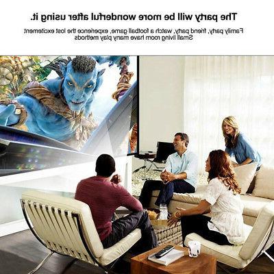 Home Household Pocket TV Video Projector Portable Digital HD