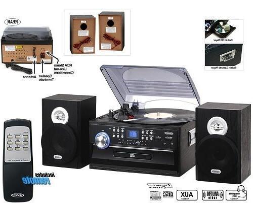Jensen Home Turntable CD Player Radio Jack