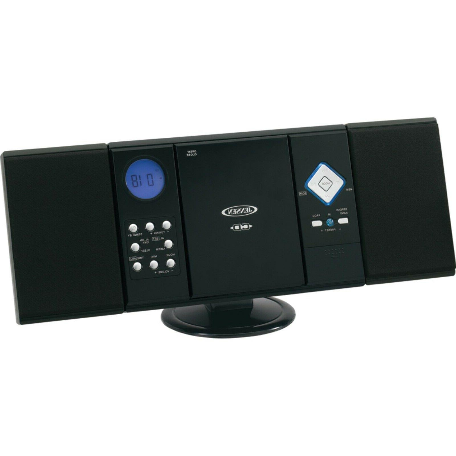 Home Stereo System Wall Mountable Bookshelf CD With Remote Radio