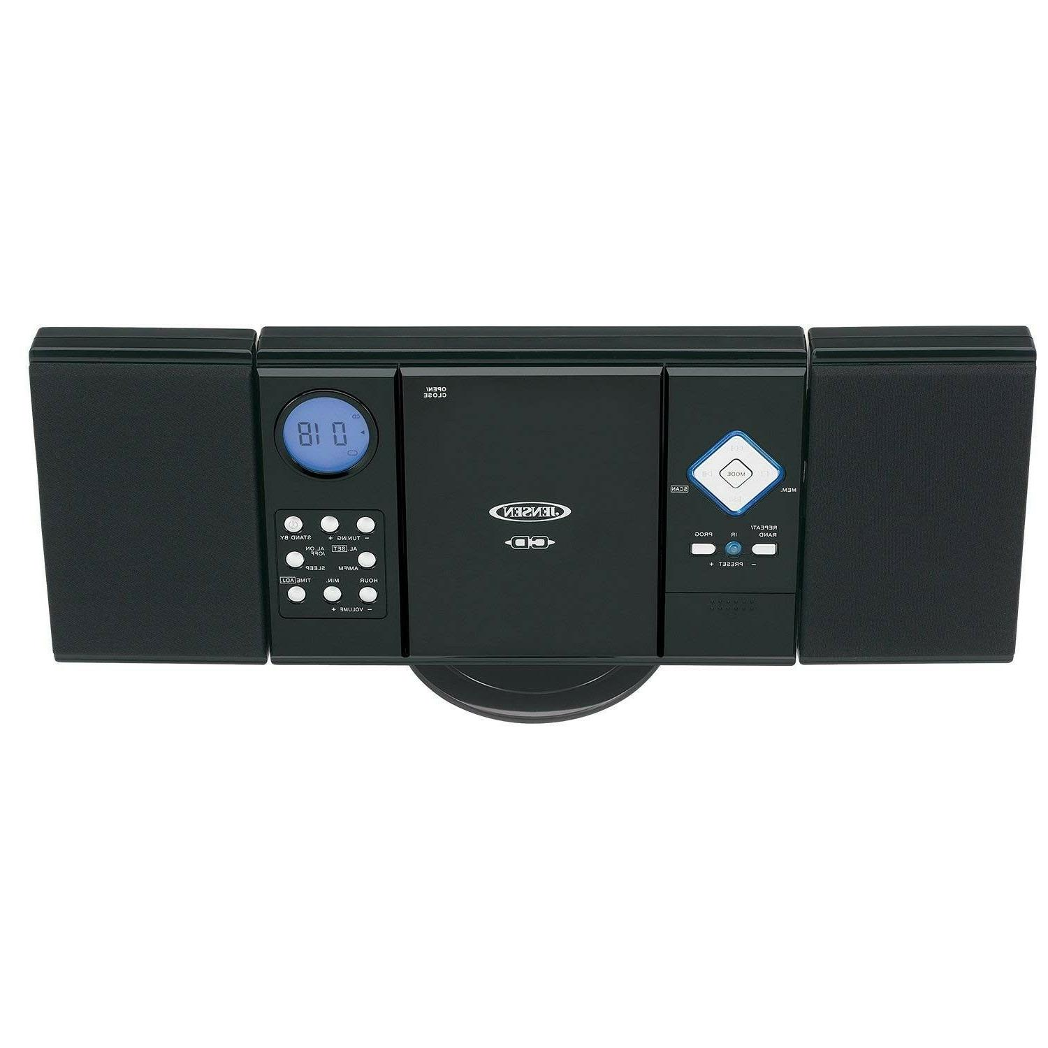 Home Stereo System Wall Mountable Bookshelf CD With AM/FM