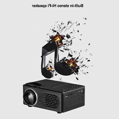 Led Stereo Portable HD Projector Beamer Speakers Lightweight Video