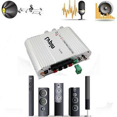New 12V 200W Mini Hi-Fi Stereo Amplifier Radio MP3 For Car