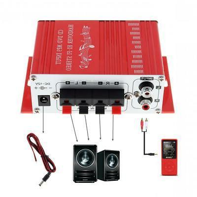 Mini Hi-Fi Amplifier AMP Car Home Motorcycle 12V