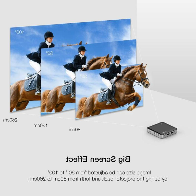 Mini Portable Projector Video DLP Home HD Dual Stereo