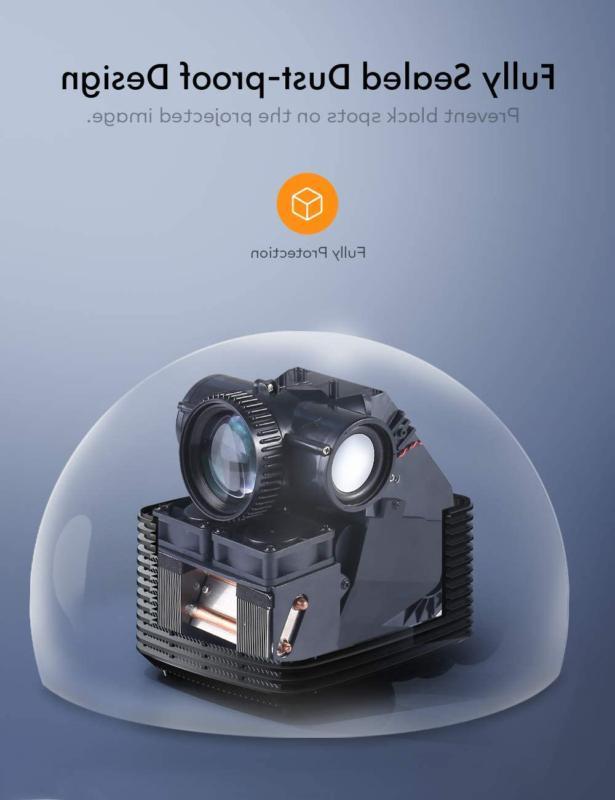 """Mini Projector 1080P 120"""" Home Movie"""
