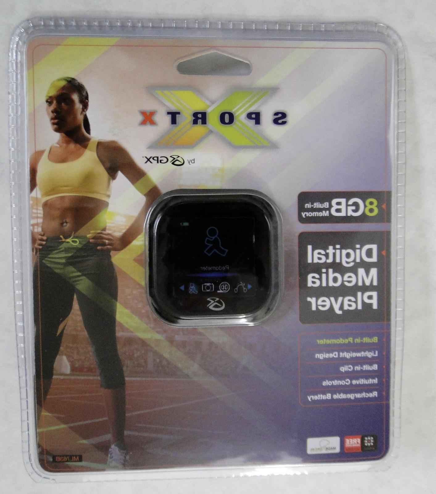 mp3 4 8gb w pedometer rechargeable blk