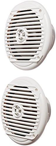"Jensen MS6007WR 6.5"" Coaxial Marine Speakers, 60 Watts, Wh"