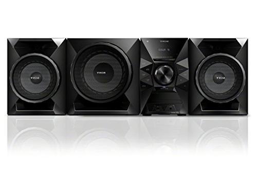 Sony Watt NFC Bluetooth Sound System MP3 CD Radio, Play & Sleep Timer, Boost, Reflex Speakers, & USB +