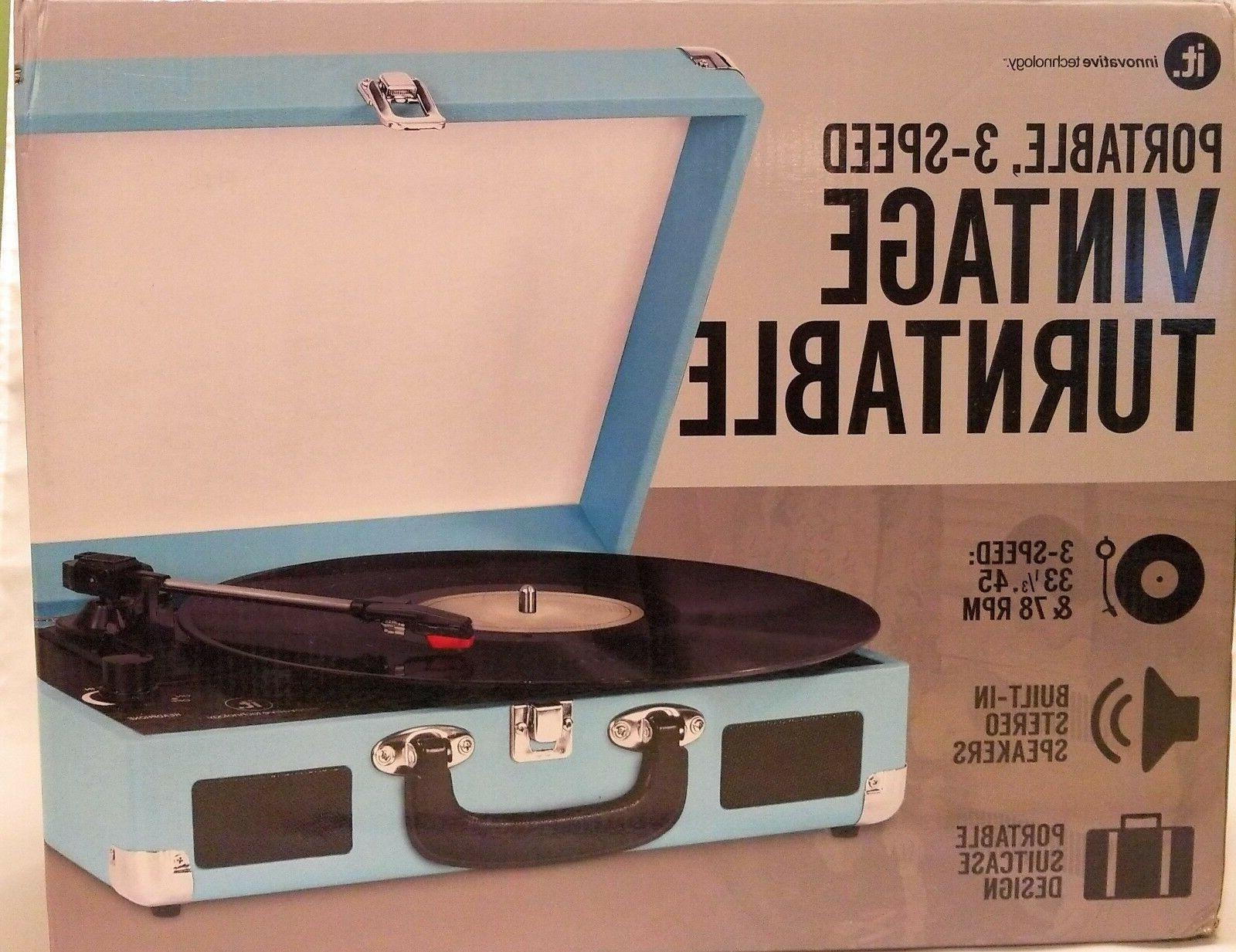 nostalgic vintage suitcase turntable