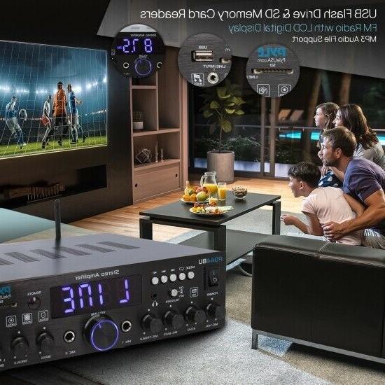 Pyle PDA4BU Wireless Home Amplifier-Multi-Channel 200 Watt Powe
