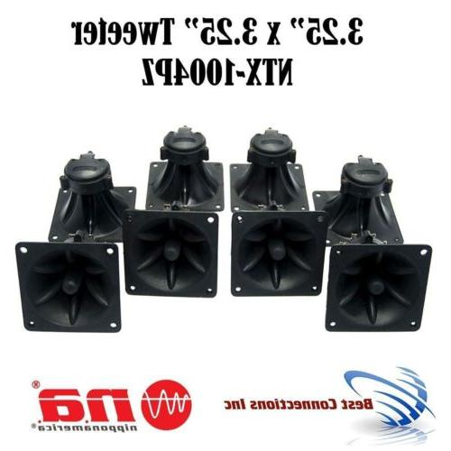 "8 pieces 3.25"" x 3.25"" Piezo Tweeter Car Audio DJ Speaker Su"