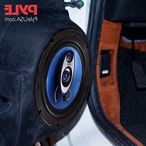 Pyle Way Sound Speaker Round Range Loud 360 Per Pair w/ for Car PL63BL