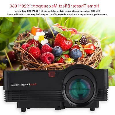 Portable HD HDMI Home Theater Projector 1800LM Screen Video