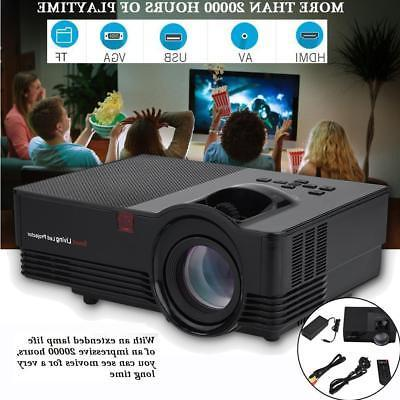 portable hd hdmi stereo home theater projector