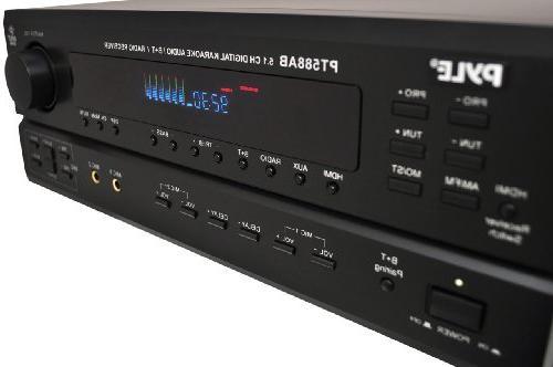 Wireless Bluetooth Amplifier System Channel Home Sound Audio Stereo Box w/ AUX, Mic w/ - Speaker -