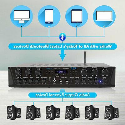 Pyle Bluetooth Home Audio 600 Watt Channel Amplifier