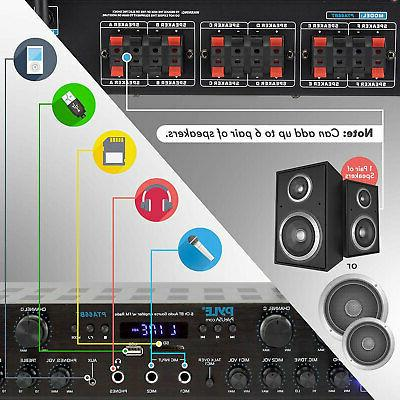 Pyle PTA66BT Bluetooth Home Audio 600 Watt