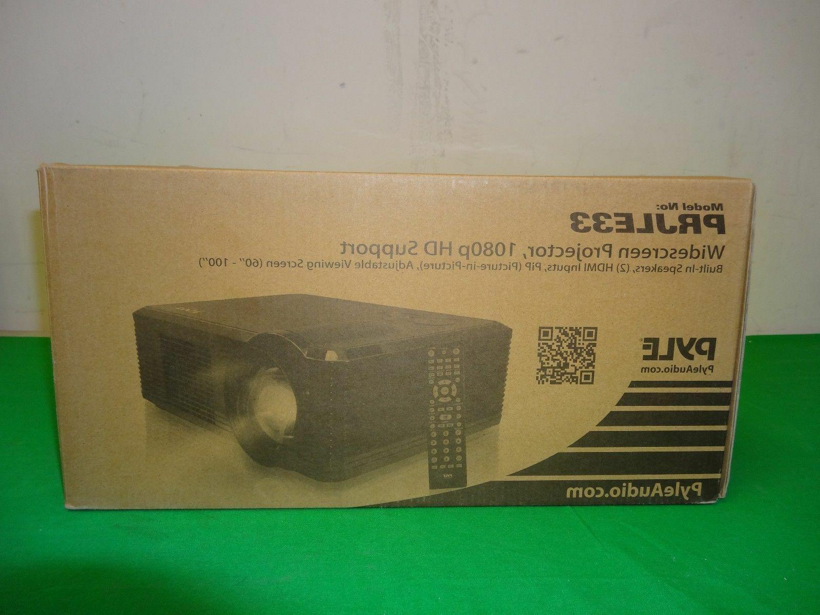Pyle LCD Video Projector Home Theater Stereo Speakers -*Z2*