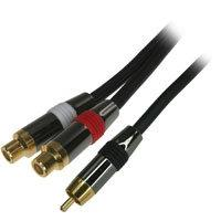 75ft RCA Mono  to RCA Stereo  Extension Splitter Cable - Dis