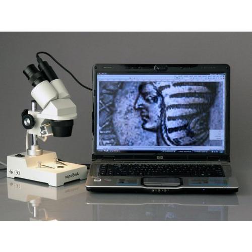 AmScope 5x-10x-15x-30x Home School Microscope Digital Camera