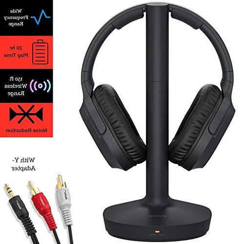 sony rf400 headphone and cable bundle includes