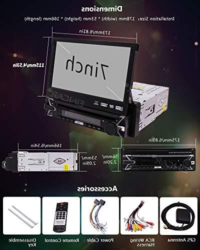 Eincar Sound Single DVD/CD/MP3/USB/SD 7 Monitor, Front Panel, Free Back up Include.