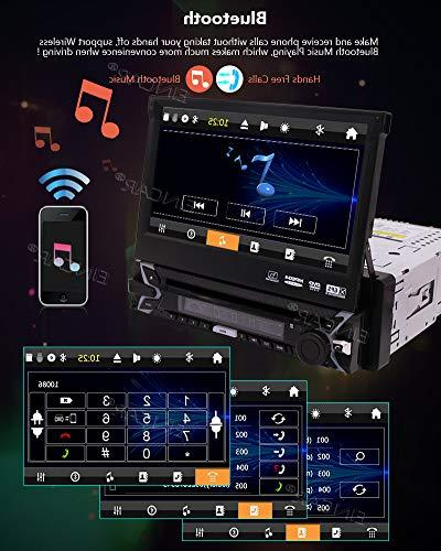 Eincar Sound Single Din, Touchscreen, DVD/CD/MP3/USB/SD Car 7 Inch Monitor, Detachable Free Back up Include.