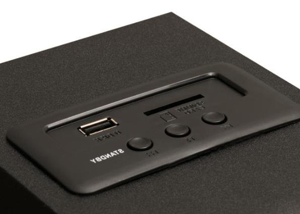 Stereo Bass System Home Audio Shelf Sound Speakers Wireless