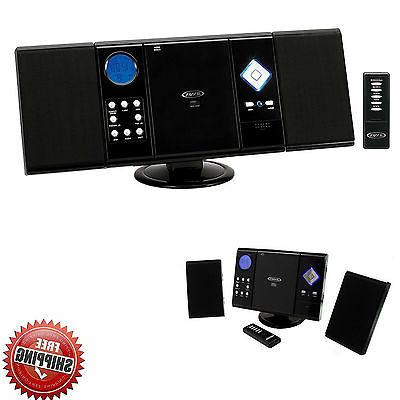 Stereo System Wall Mount Shelf Audio Speakers Compact Radio