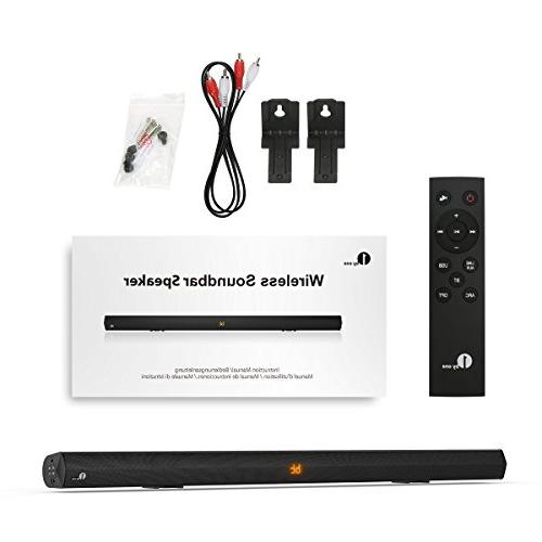 1byone Audio 2.0 Bar Mountable, Remote