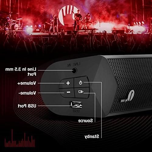 1byone Wireless 2.0 Dual Bar 20w Digital Input, Mountable, with Black