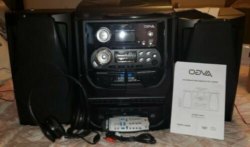 technology 3 cd home stereo with turntable