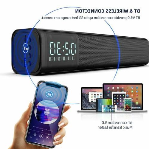 Wireless Bluetooth Digital Stereo Speaker Soundbar TV Home T