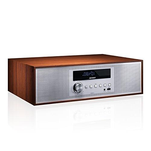 Toshiba TY-CWU700 Style Retro Look Micro Component Wireless & Player Speaker + Remote, USB Playback, FM Stereo Digital Tuner, Input