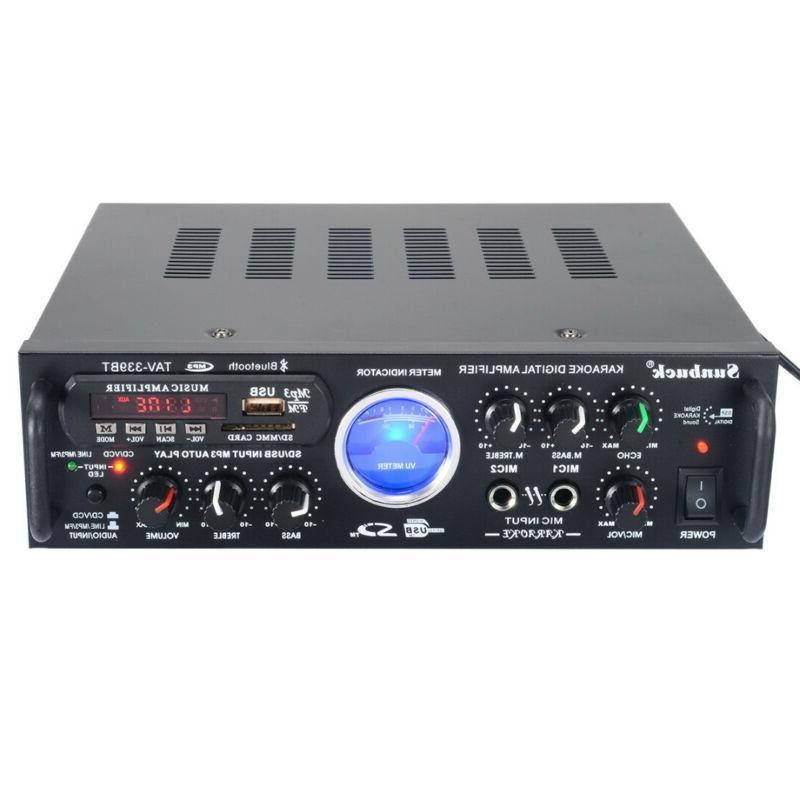 500W 110V HiFi Stereo Amplifier Karaoke Meter FM