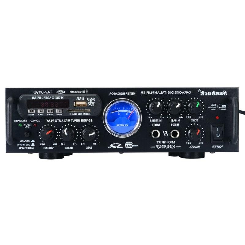 500W Karaoke VU Meter FM USB